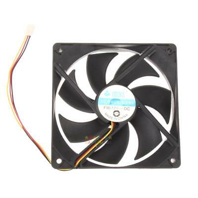 120mm Cooling Fan Silent High Performance PC Computer Case Black 3Pin 1800RPM