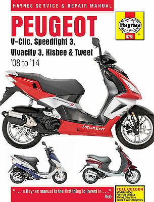 5751 Haynes Peugeot V-Clic, Speedfight 3, Vivacity 3, Kisbee & Tweet Manual