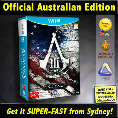 Assassin Creed 3 Join or Die for Wii U (NEW RARE AUSSIE Collectors Edition!) III