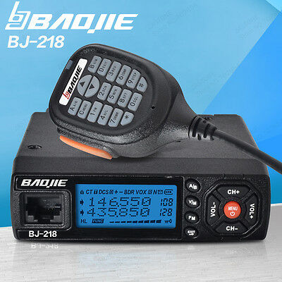 Car Mobile Radio 25W Output Power BJ-218 VHF/UHF  136-174/400-470MHz  Dual Band