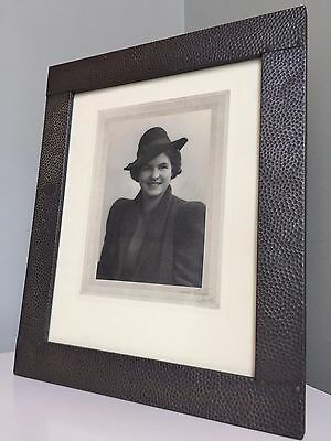 Vintage 1940s PEWTER FRAME Easel Strut Original Photo Freestanding LARGE 31x26cm