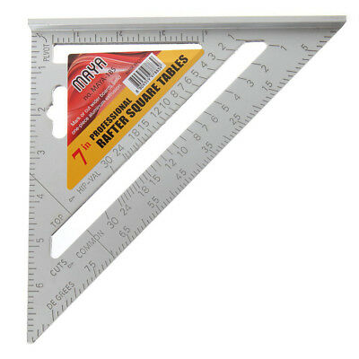1 PCS Aluminium alloy triangular ruler,7 inch high grade carpenter's Three O1E8