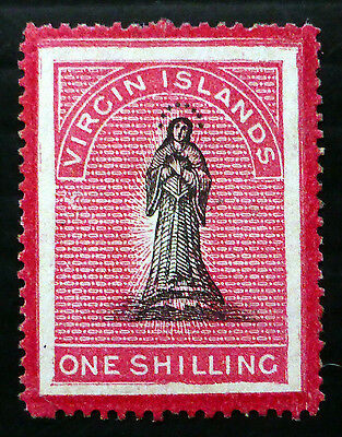 BRITISH VIRGIN ISLANDS 1867 - 1/- SG80 Mounted Mint Small/Faults NB2578