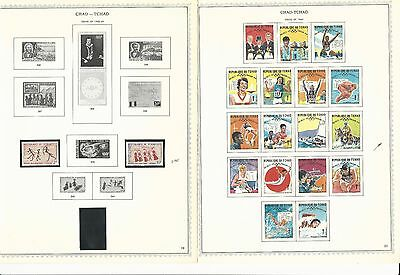 Chad Collection 1960-1972 on 50 Minkus Specialty Pages, Few Stamps