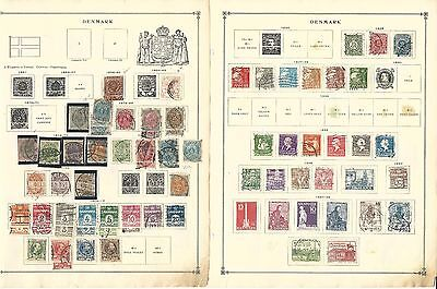 Denmark Collection 1851 to 1939 on 7 Scott International Pages