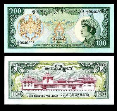 Bhutan 100 Ngultrum 1986 P 18 Sign 1 Unc