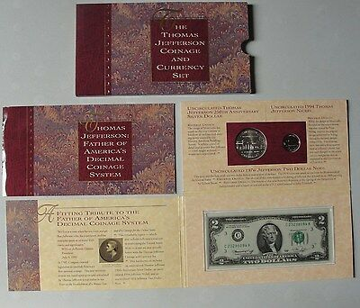 1993 Thomas Jefferson Coinage and Currency Set * US Mint *