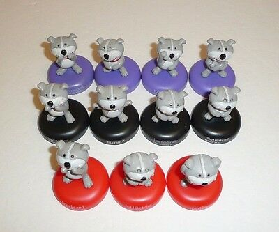 Lot of 11 Dog of Glee Small Insult Figures Funny Joke Gag Insulting Mean Puppy