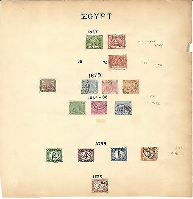 Egypt Collection 1867-1957 on 10 Pages, Lots of Nice Classic Stamps