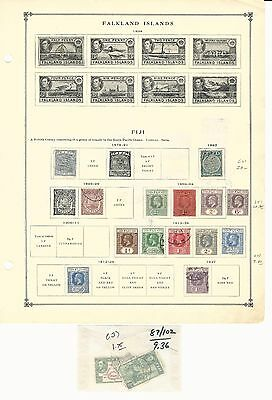 Fiji Collection 1878-1940 on 2 Scott International Pages