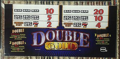 Igt Double Gold Slot Machine Glass