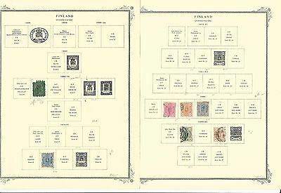 Finland Collection 1856-1978 on 50 Scott Specialty Pages