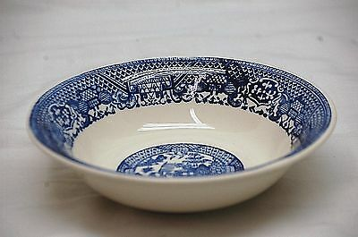 """Old Vintage Blue Willow Pattern by SCIO 6-3/4"""" Cereal Bowl Coupe Shape USA"""