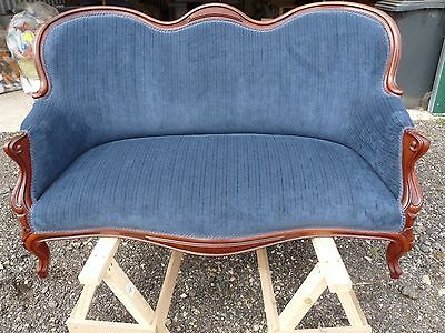 Newly Upholstered 2 Seater Settee With Lots Of Character