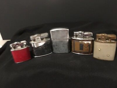 Lot of 5 VINTAGE Cigarette Lighters