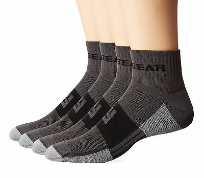 MudGear Trail Running Socks for Men and Women - 2 Pair Pack Gray/Black Medium