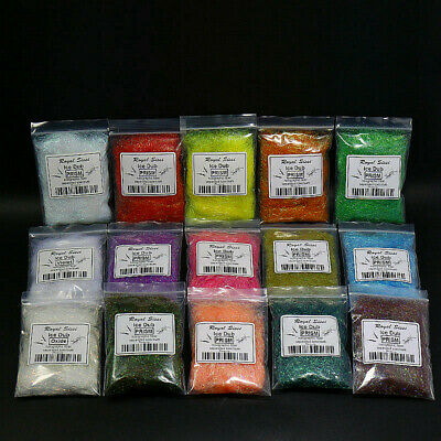 10 Colors Fly Tying Dubbing Prism ICE DUB DUBBING Living Fibers Fly Materials