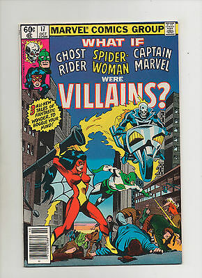 What If #17 - Ghost Rider Spider-Woman Captain Marvel Villains- (Grade 8.0) 1979