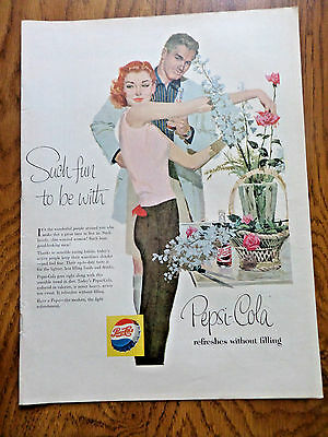 1956 Pepsi Cola Soda Ad   Such Fun to be With Slim Lovely Women & men