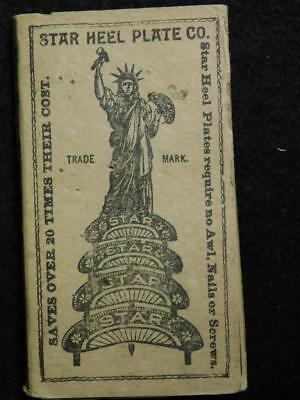 Star Heel Plate Co Shoe Heel Protectors In Original Package Statue of Liberty T3