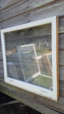 VINTAGE SASH ANTIQUE WOOD WINDOW  FRAME PINTEREST ONE PANE 31x28 PICTURE FRAME