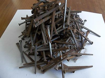 "3 lbs lot of 2 1/4"" Antique Vintage Square Cut Nails Arts Craft Woodworking"