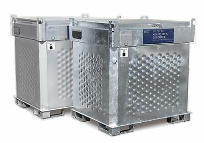 Diesel Tank 1000L Double-walled with 230V Pump U.Counter - Mobile Petrol Station