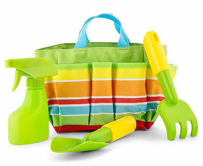 Melissa & Doug Boys Kids Garden Or Beach Bag And Tools - Great For Sandpit Too