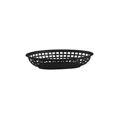 12 x Black Plastic Bread Basket, Small Oval, Burgers / Fries / Cafe / Diner