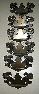 LOT 6 Chippendale Batwing Dresser Cabinet Drawer Pull Handle Hardware Drop Bail
