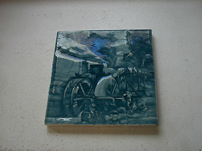 Old Ceramic Tile – Water Wheel Mill 1910s
