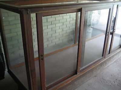 Vintage oak Display Case showcase  built by Grand Rapids Fixture Company