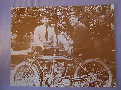 "INDIAN TRIUMPH VINTAGE MOTORCYCLE SEPIA TONE PRINT 11"" x 14"""