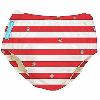 Charlie Banana Extraordinary Swim Diaper - Red Stripes - Large Gender Neutral