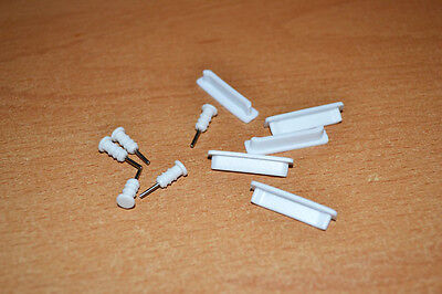 5 Sets White Anti-dust Docks Plug + 3.5mm Earphone Anti-Dust Caps for iPhone 4S