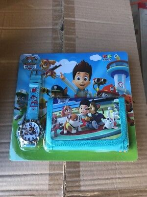 Paw patrol watch and wallet set