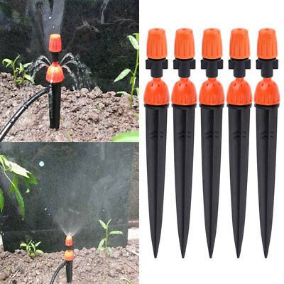 10x Adjustable Flow Irrigation Inserted Drippers Micro Sprayer Nozzles Sprinkler