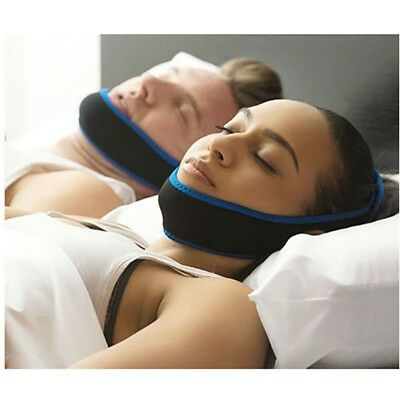 New Anti Apnea Jaw Solution Sleep Support Stop Snoring Chin Strap Snore Belt