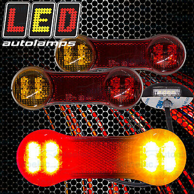 Pair Of Led Trailer Ute Truck Lights Prefitted Wire Cable Kit Rewire Complete
