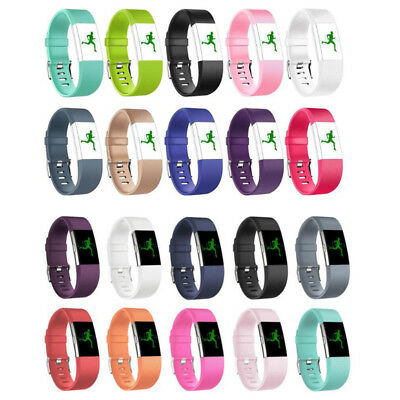 Replacement Silicone Rubber Band Strap Wristband Bracelet Fr Fitbit Charger 2