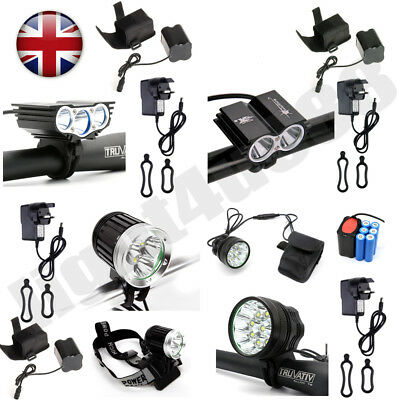 UK Ship 20000Lm 9/7 x LED Cree XML T6 Bicycle Bike Light Cycling Headlight Lamp