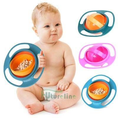 360° Rotate Baby Kids Infant Feeding Dishes Gyro Bowl Universal Spill-Proof Bowl