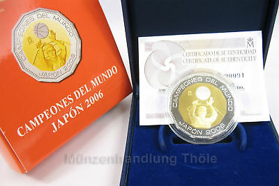 Spanien 2006: 300 Euro Basketball WM Japan 2006 Gold Silber PP proof (404)