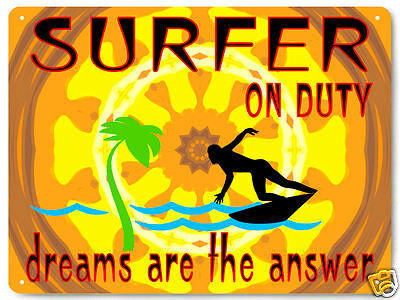 Surfer beach sport METAL SIGN perfect GIFT for mancave wall decor garage art 291