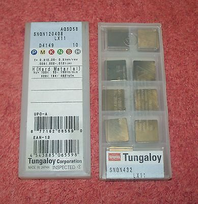 Tungaloy   Ceramic Inserts   Sngn 432   Grade  Lx11  Sealed  Pack Of  10