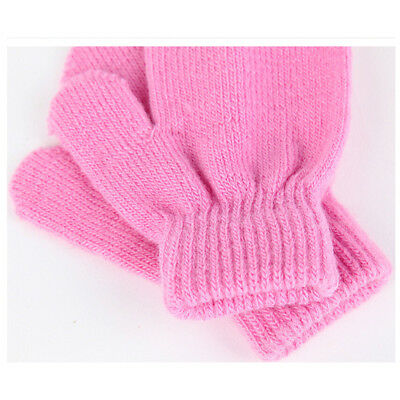 1x Baby Unisex Knitting Warm Soft Gloves Kids Boys Girls Candy Colors Mitten