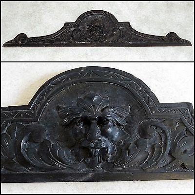 Carved Wooden Pediment / Plaque ~ Green Man ~ Secret Spy hole in eye