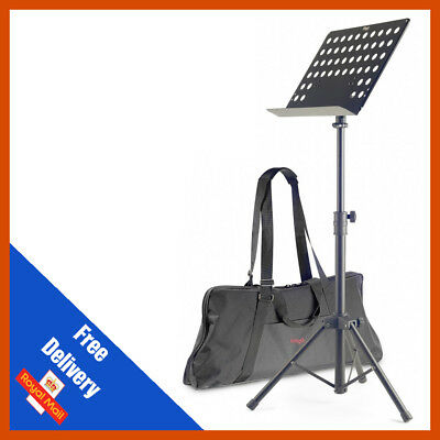 Stagg MUS-C5 T Heavy Duty Orchestral Conductor Sheet Music Stand FREE BAG