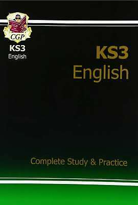 KS3 English Complete Study & Practice, CGP Books, New condition, Book