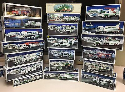 HESS Truck Lot of 20 - From 1984-2014 - New in Box (NIB) See List, All Different